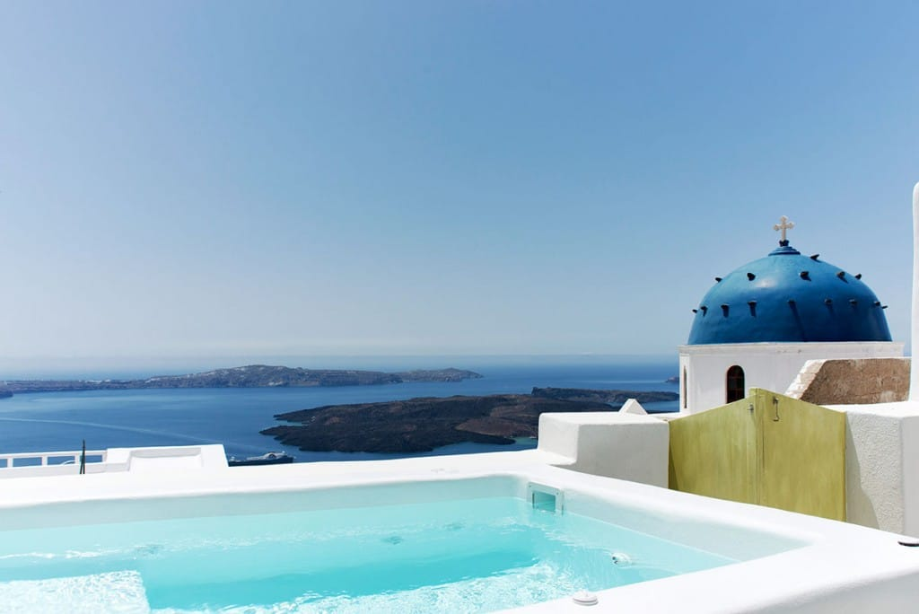 Pool with View to Caldera | Luxury Cave House Santorini | Imerovigli