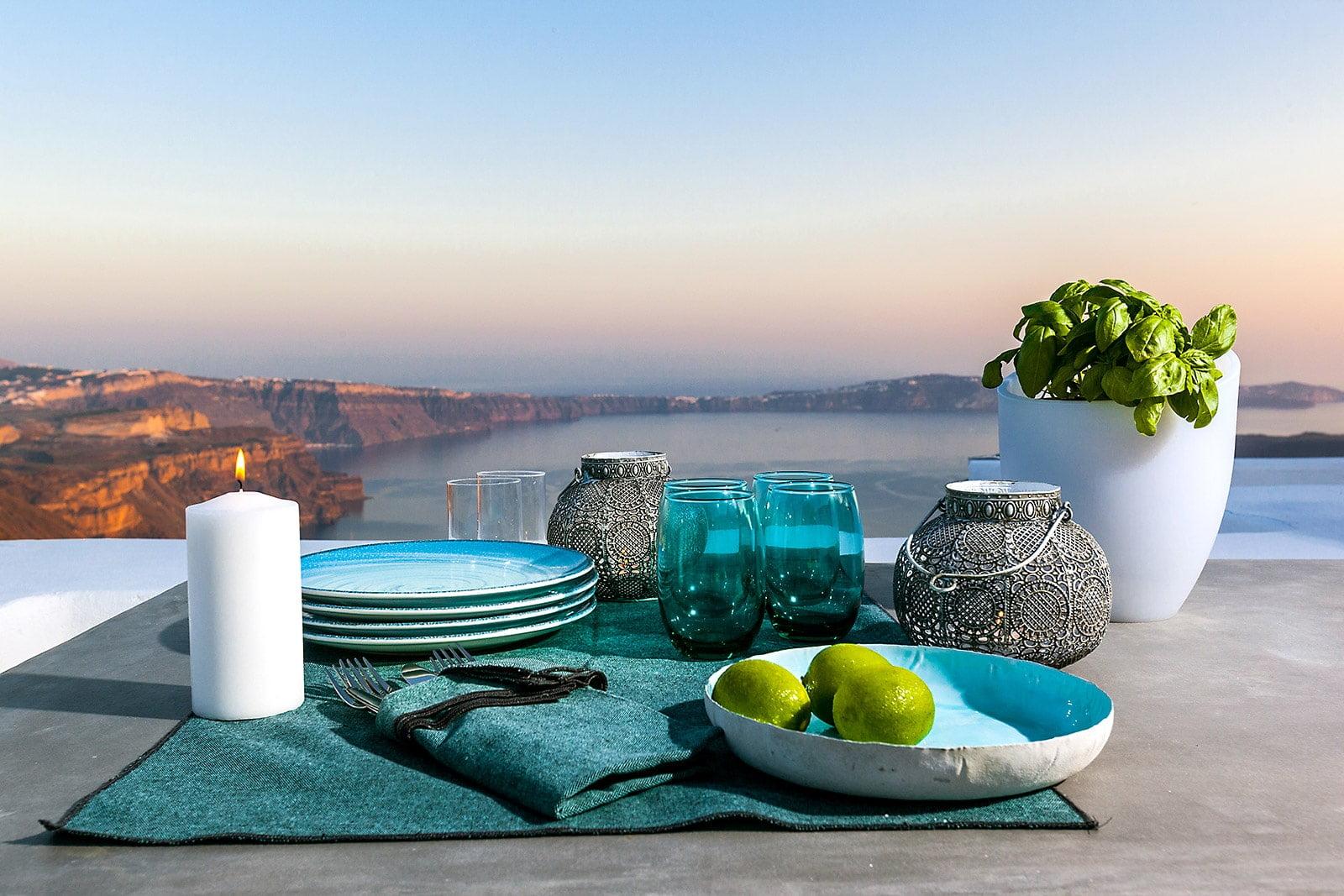 outdoor view caldera santorini luxury villa 24