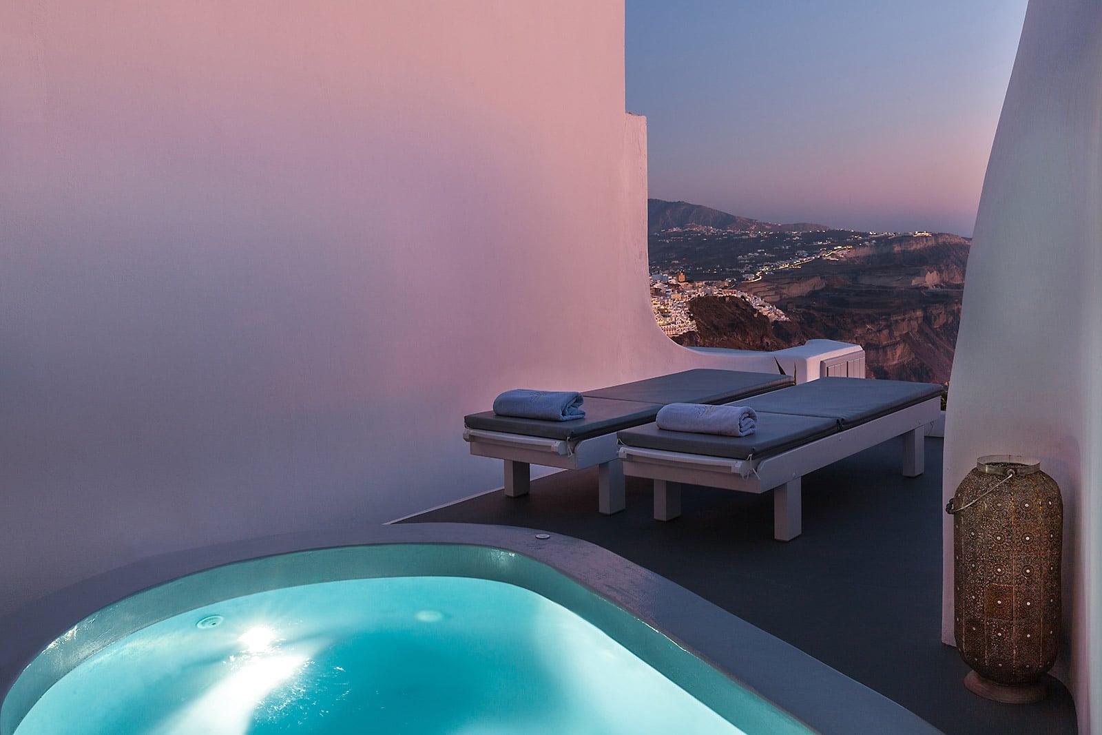 santorini luxury villa with view caldera 07