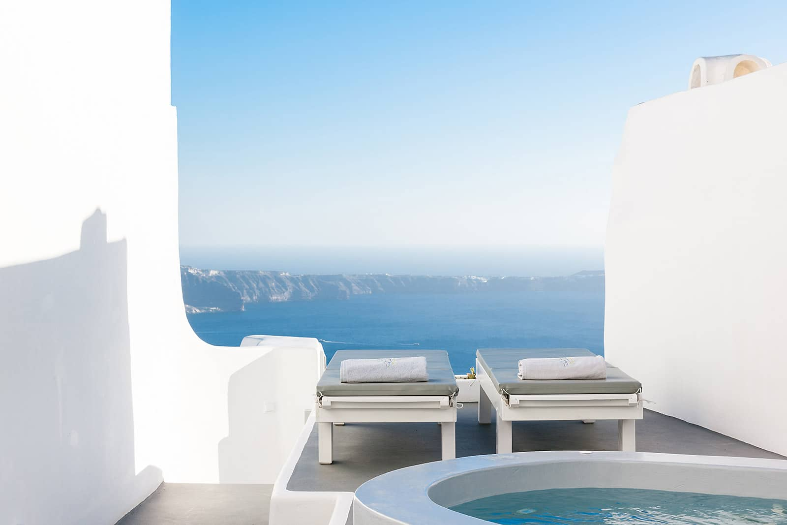 santorini luxury villa with view caldera 10