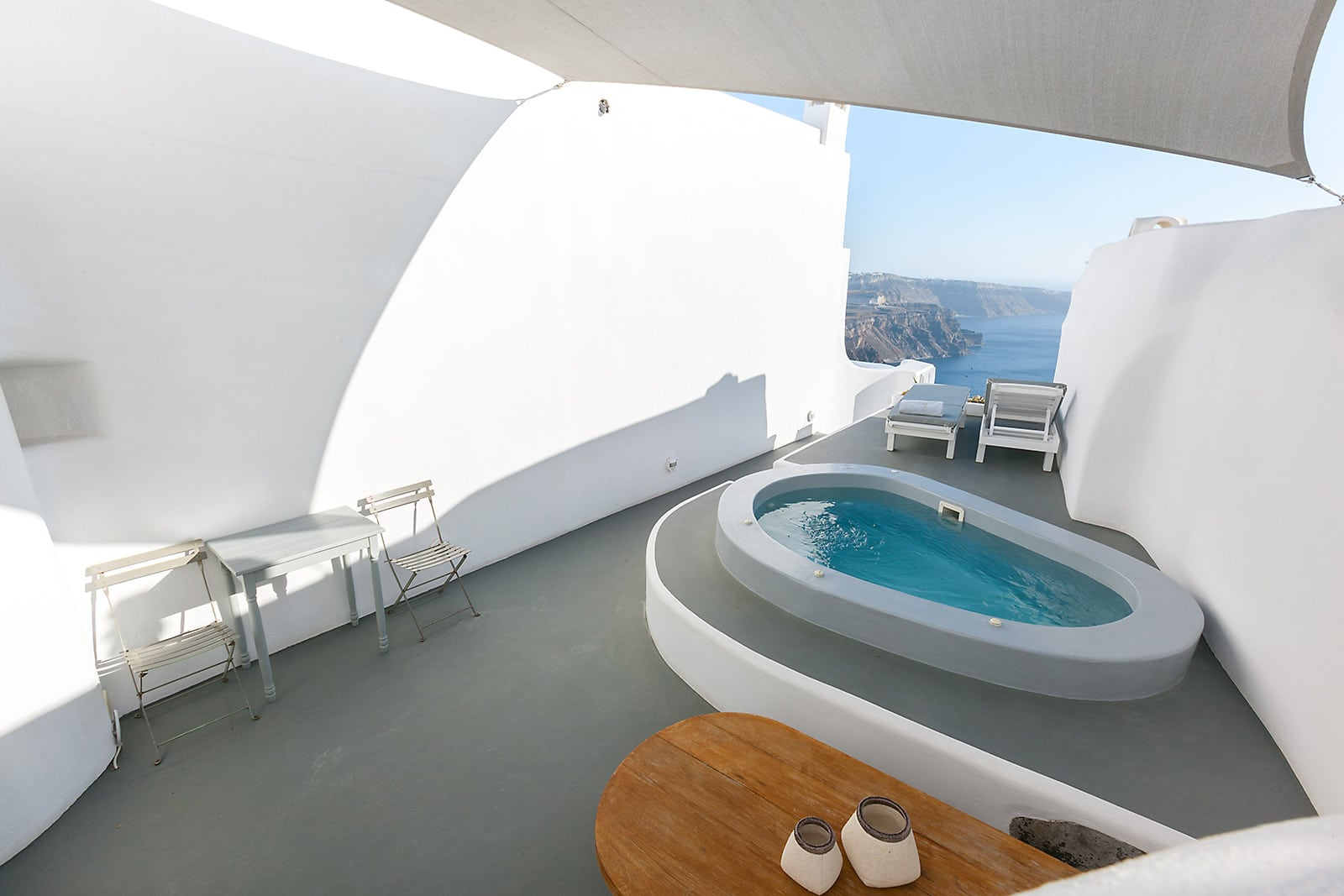 santorini luxury villa with view caldera