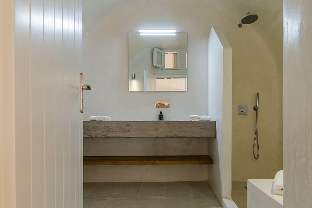 santorini villa pura vida bathroom