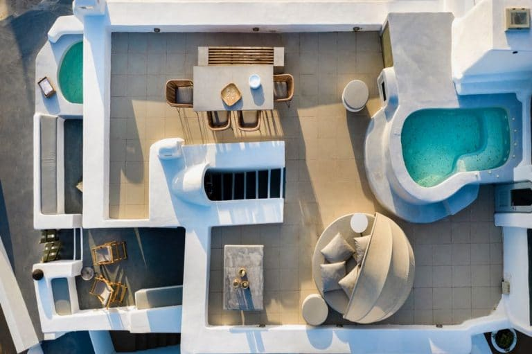 view pura vida villa house luxury suites santorini 10