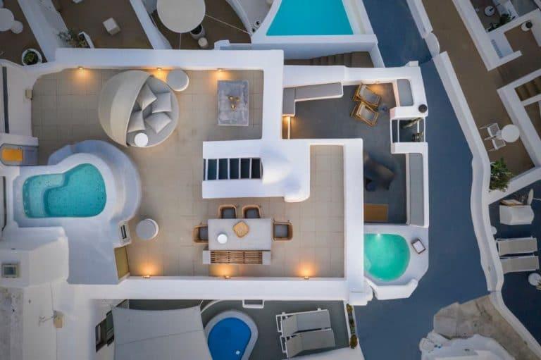view pura vida villa house luxury suites santorini 12