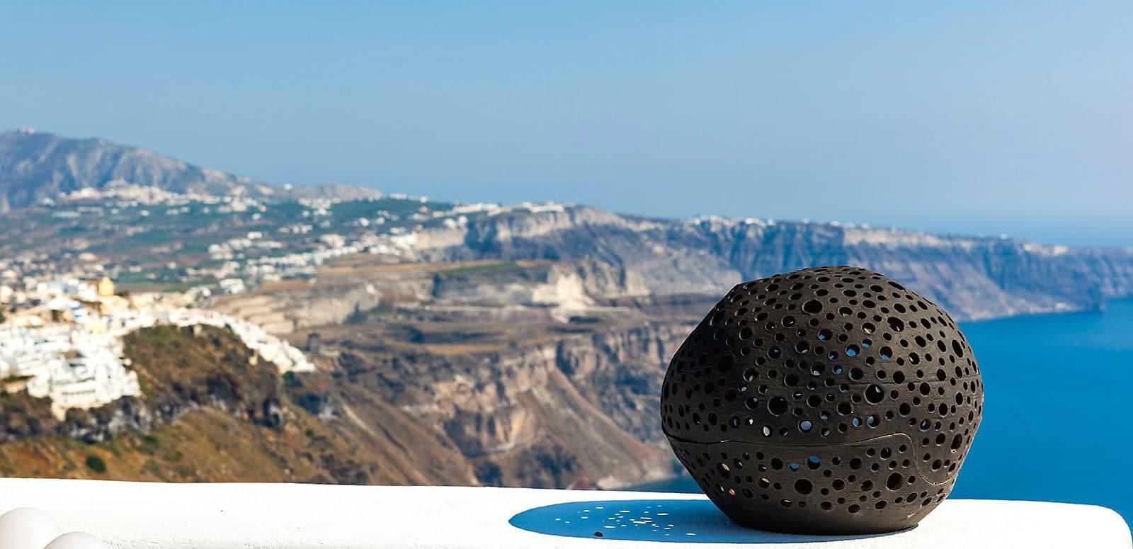 santorini luxury villa outdoor pool view caldera 1600