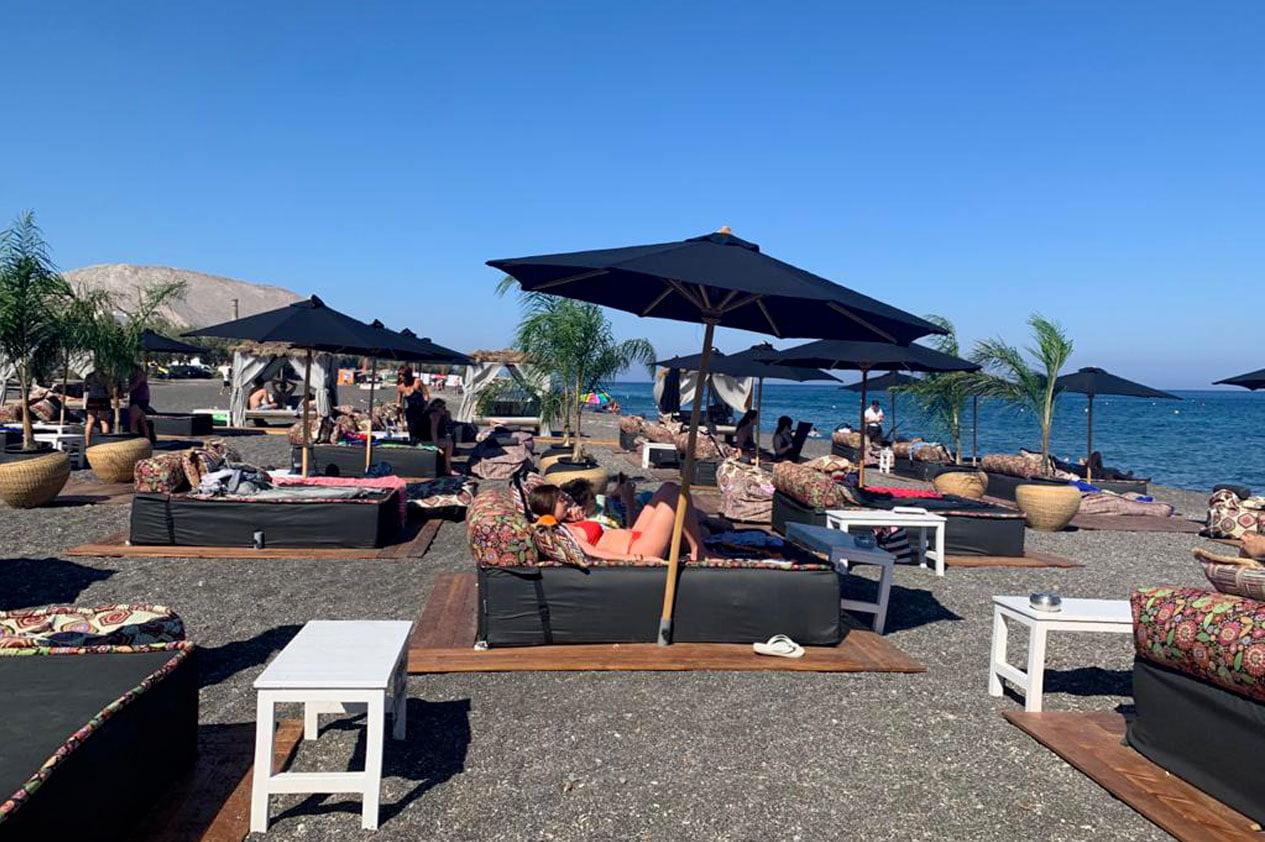 beach life experiences in santorini