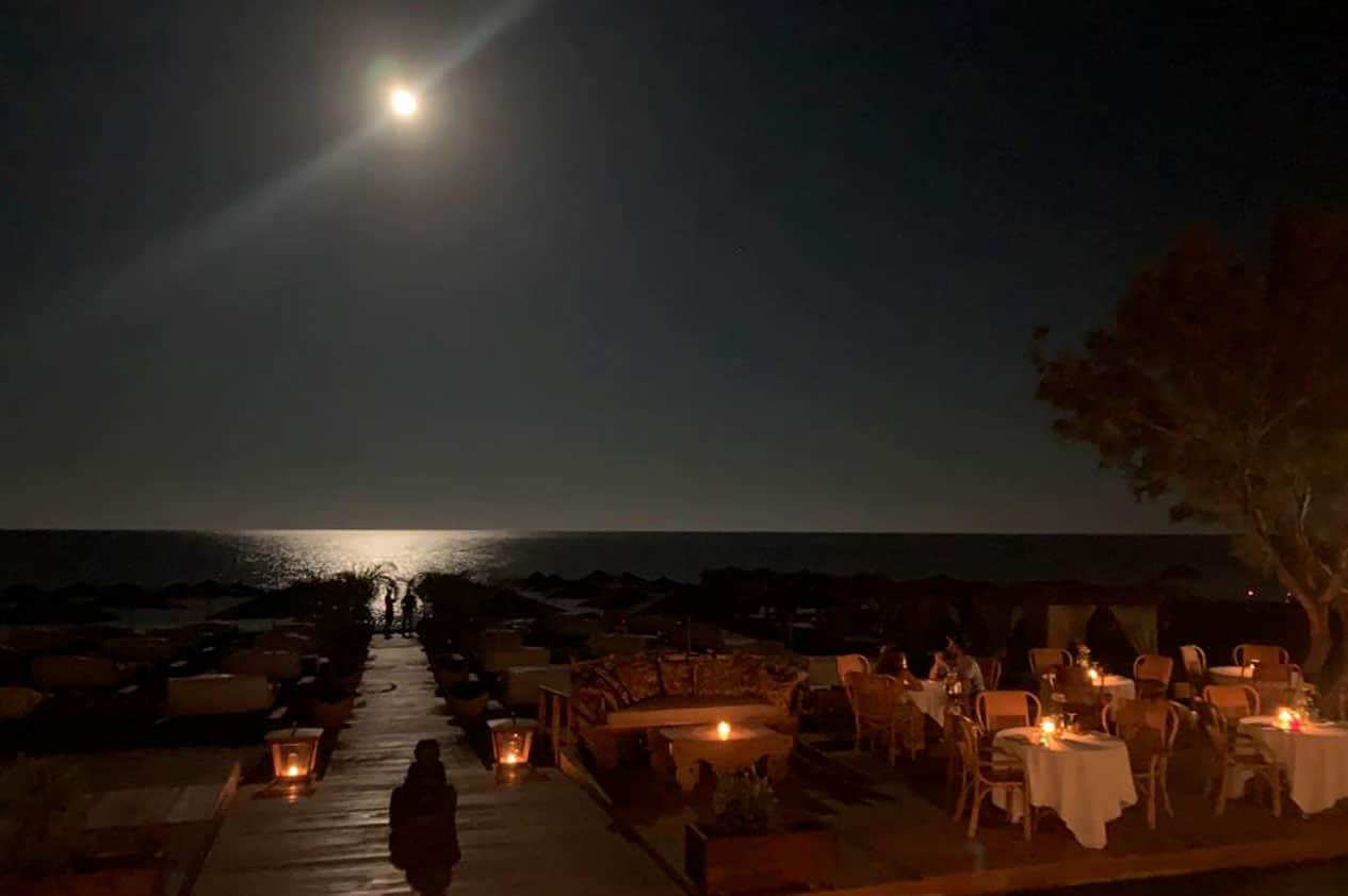 dine under the stars experiences in santorini